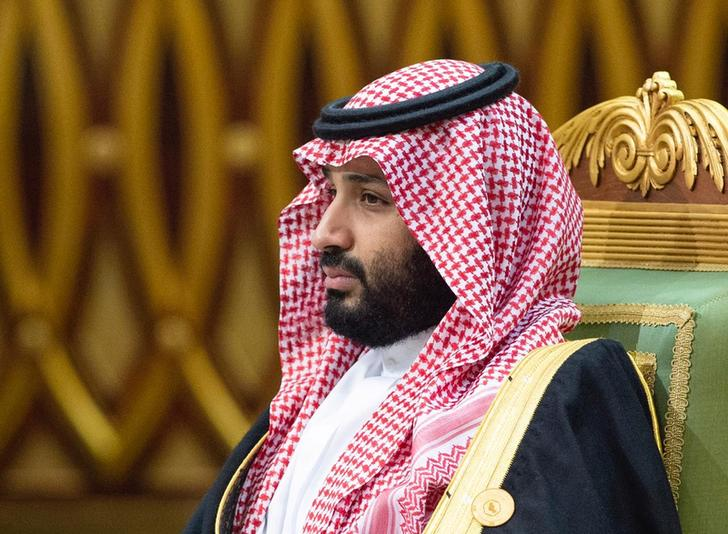 Saudi Arabia's Crown Prince Mohammed bin Salman attends the Gulf Cooperation Council's (GCC) 40th Summit in Riyadh, Saudi Arabia December 10, 2019. Bandar Algaloud/Courtesy of Saudi Royal Court/Handout via Reuters.